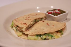 Quesadilla Brussel Sprout Feta - Arriba Menu