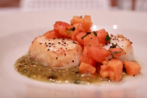 Scallops Papaya Salsa - Arriba Menu